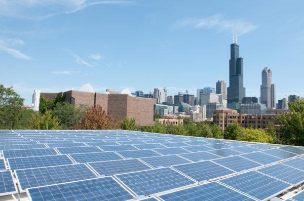 On campus solar panels